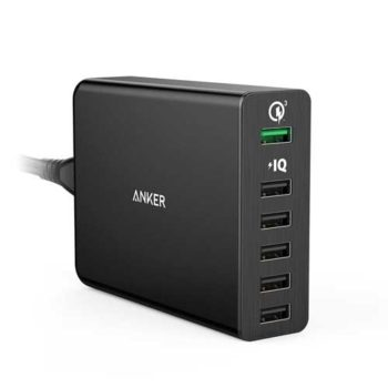 Anker 60W Powerport+6 QC3.0 USB Port Wall Charger